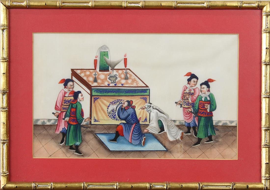 Chinese Pith Paintings, Figures - 14