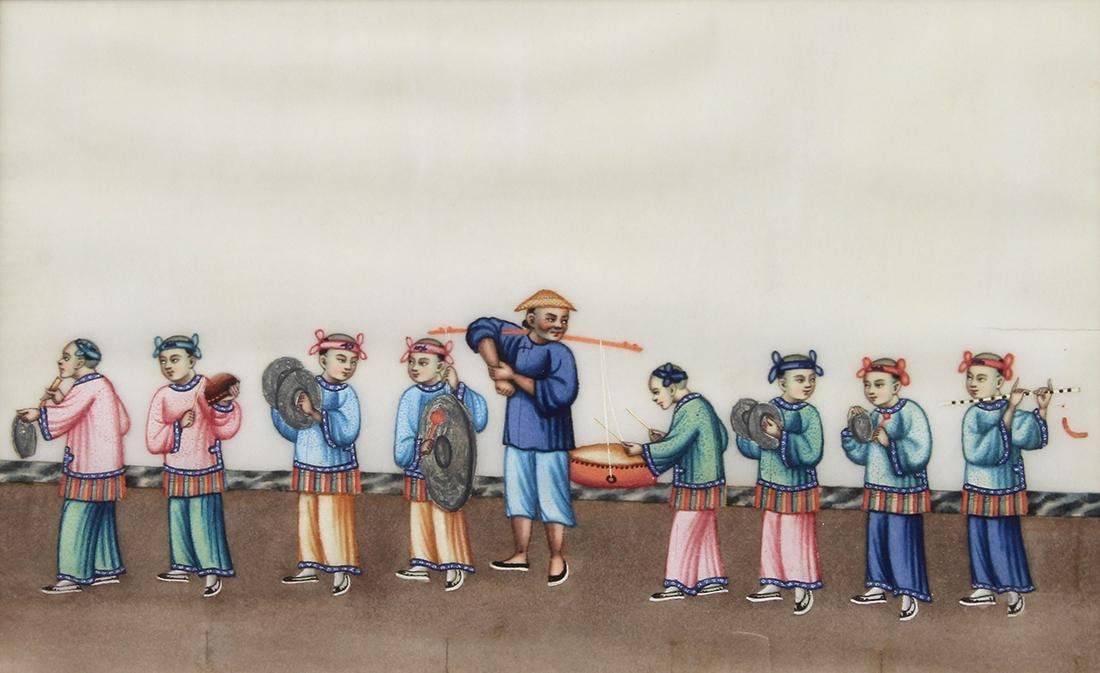 Chinese Pith Paintings, Figures - 15