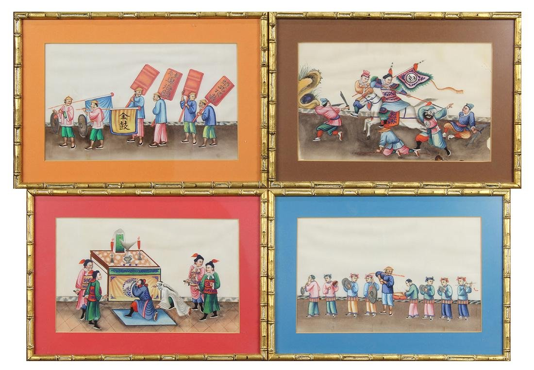 Chinese Pith Paintings, Figures