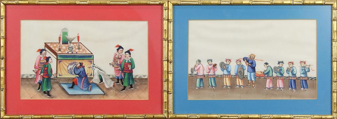 Chinese Pith Paintings, Figures - 2
