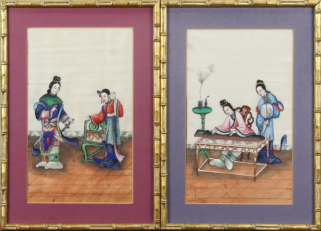Chinese Pith Paintings, Figures - 4