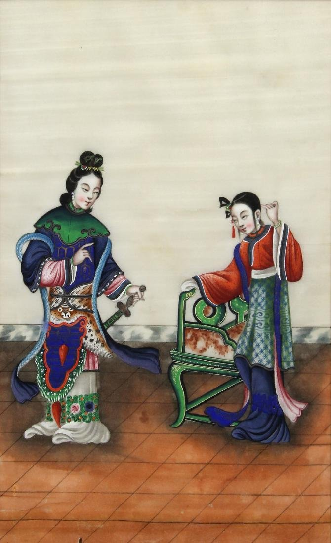 Chinese Pith Paintings, Figures - 7