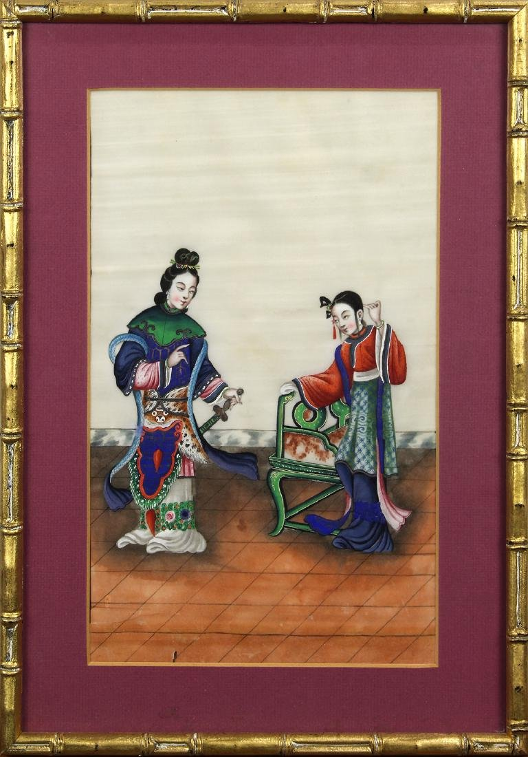 Chinese Pith Paintings, Figures - 8