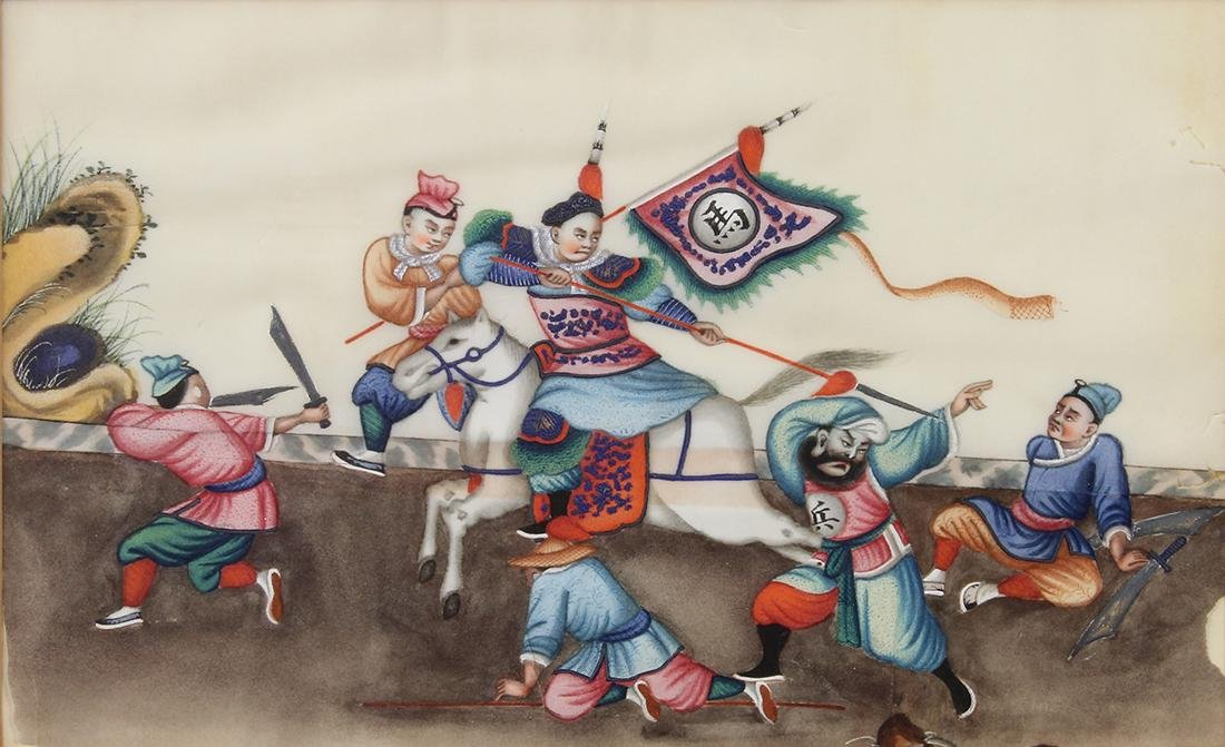 Chinese Pith Paintings, Figures - 9