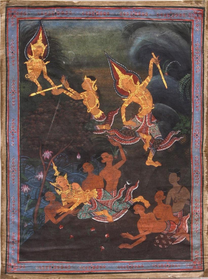Thai Painting of Celestials