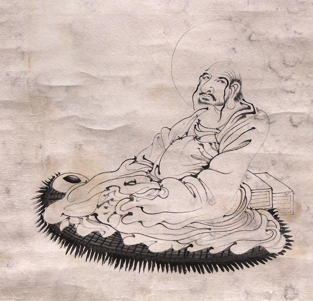 Chinese Scroll, Manner of Pu Jin, Bodhidharma - 3
