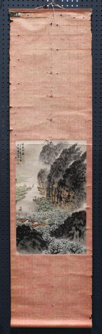 Chinese Scroll, Manner of Song Wenzhi, Landscape