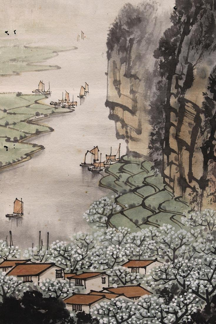 Chinese Scroll, Manner of Song Wenzhi, Landscape - 3