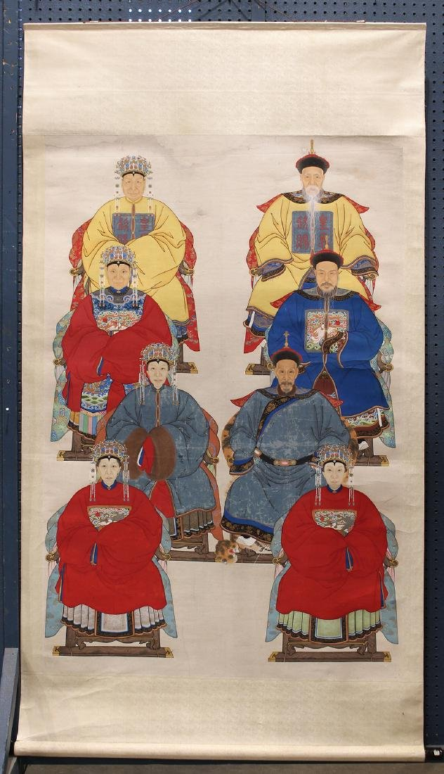 Chinese Scroll Painting, Ancestor Portrait