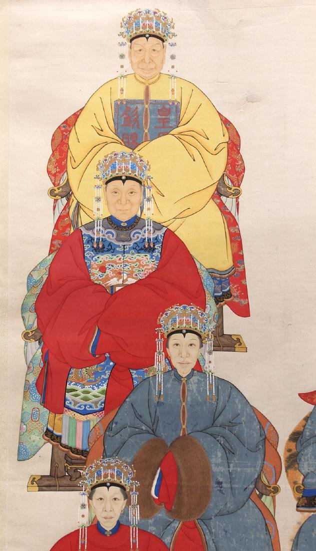 Chinese Scroll Painting, Ancestor Portrait - 2