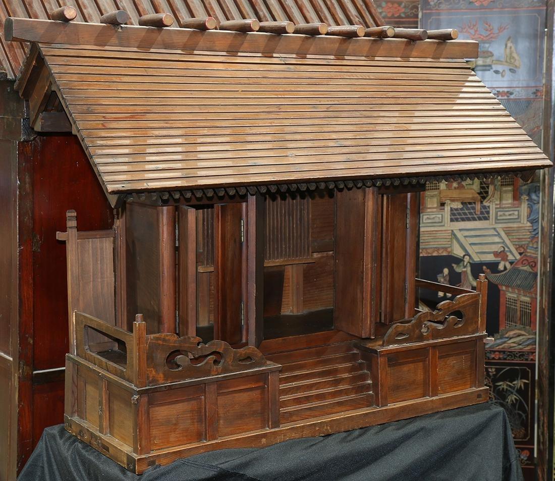 Japanese Shinto shrine, pawlonia wood