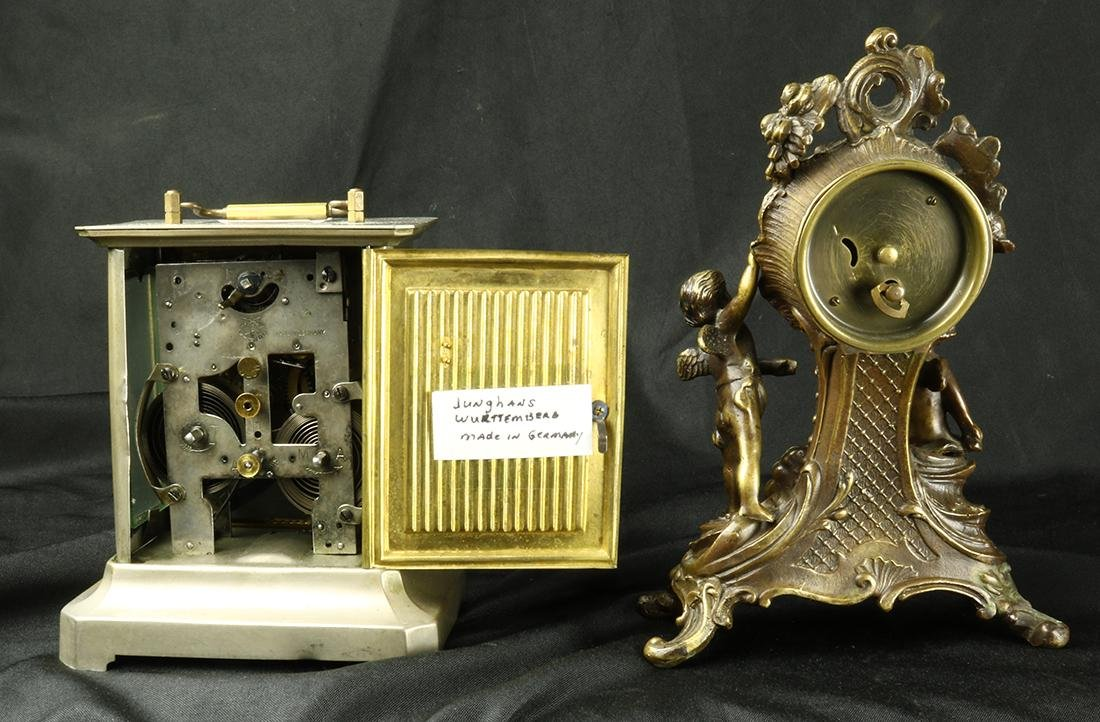 German mantle clock group, consisting of Rococo Revival - 2