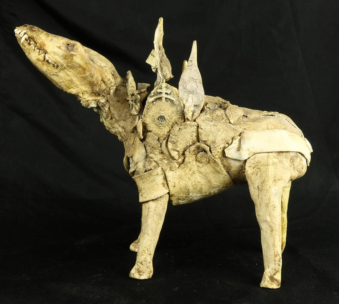 San Francisco Clay Funk Movement sculpture of a dog, - 3