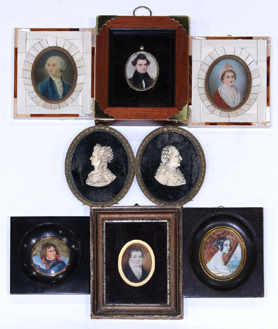 Miniature portrait group, consisting of a pair of