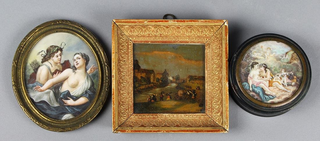 Decorative art group, consisting of a hand painted