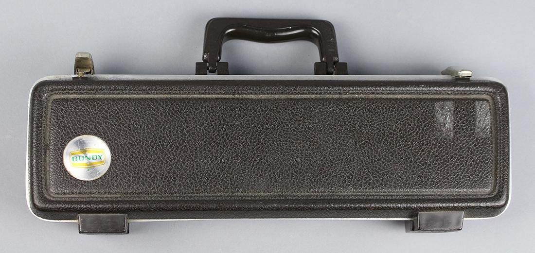 Bundy, silver plate flute - 4