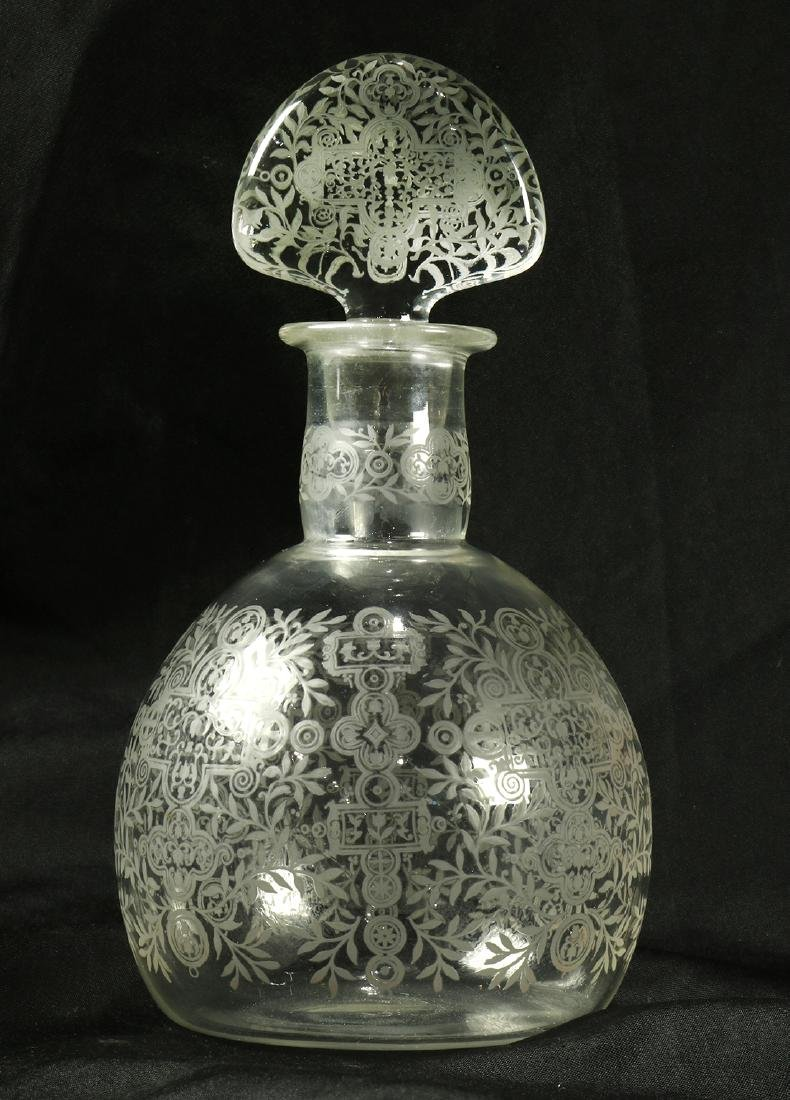 Baccarat glass stoppered decanter