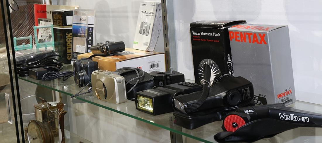 Vintage camera group, consisting of a Weston Master V
