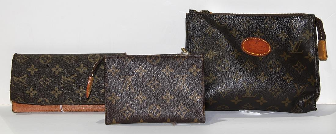 Louis Vuitton style accessory group, consisting of a