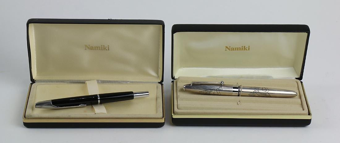Japanese Namiki fountain pen group
