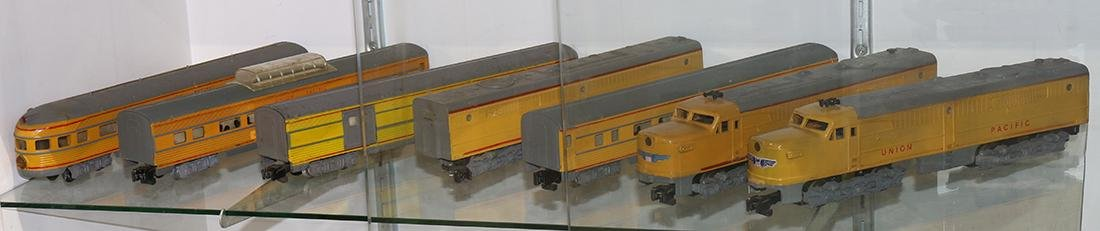 American Flyer Model train group, consisting of  yellow