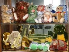 German Steiff plush toy group, consisting of teddy