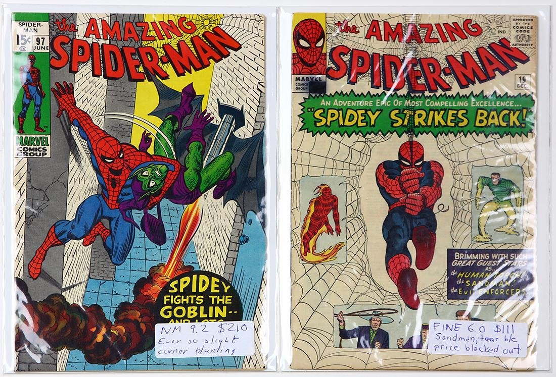 Vintage Marvel comic book group, consisting of Amazing