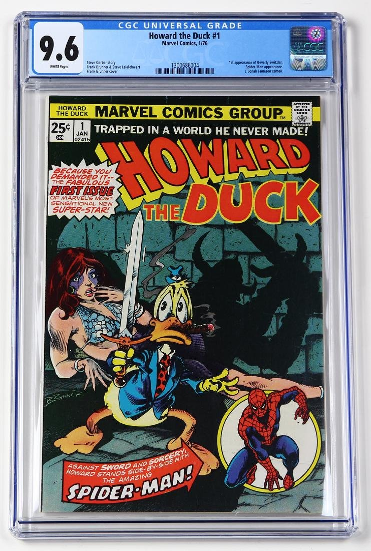 Mavel comic Howard the Duck #1  1/76, CGC Universal