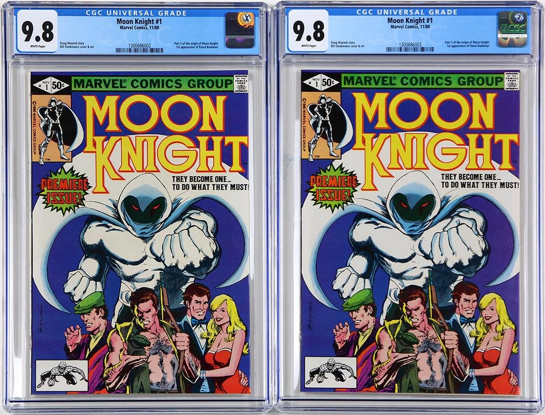 Marvel vintage comic book group, consisting of  Moon