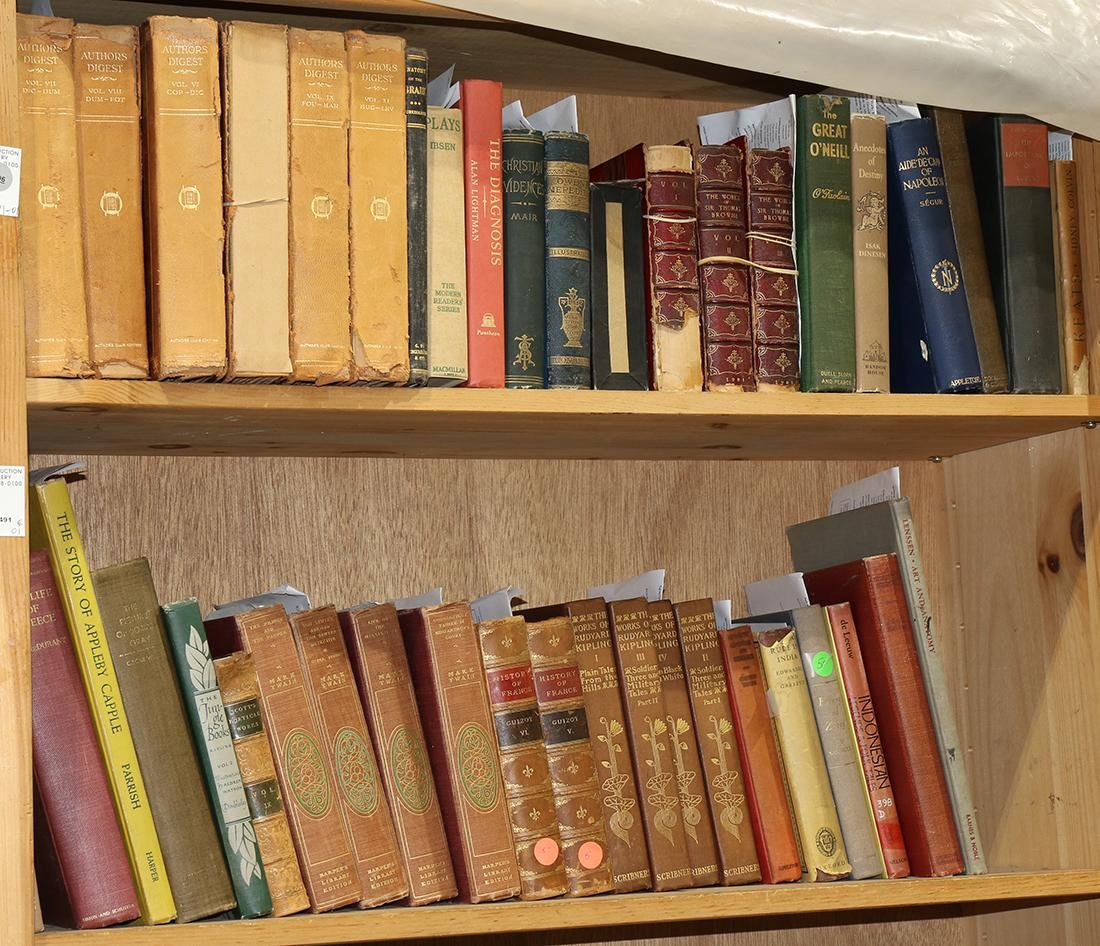 Collection of books mostly relating to literature - 2