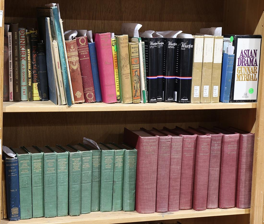Collection of books mostly relating to literature - 3