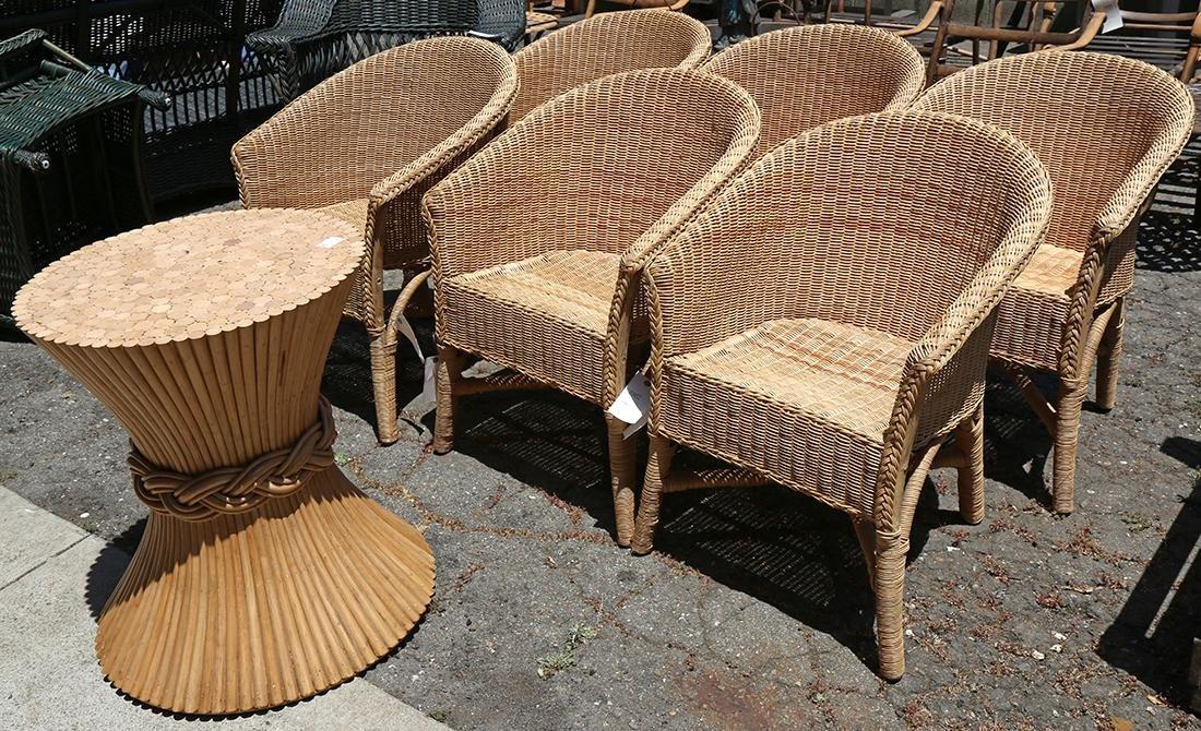 Palecek wicker armchairs