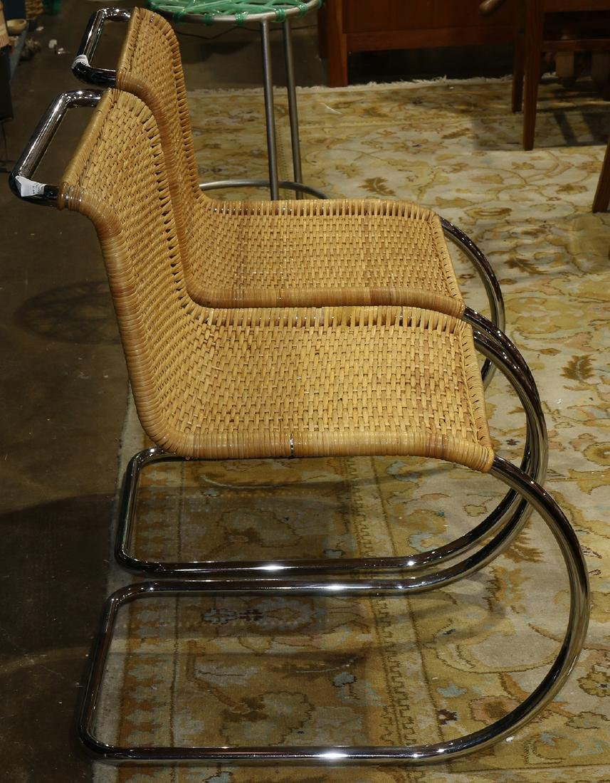 Mies Van Der Rohe side chairs, the frame executed in - 2