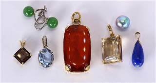 Multistone gold jewelry
