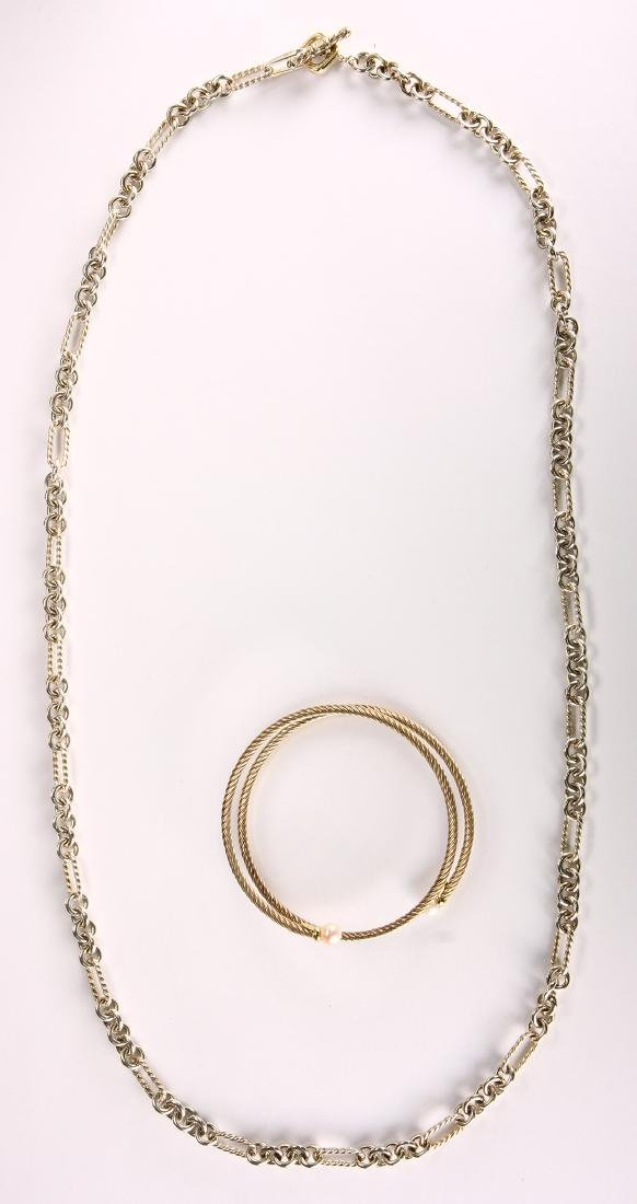 David Yurman cultured pearl, sterling silver and 18k - 2