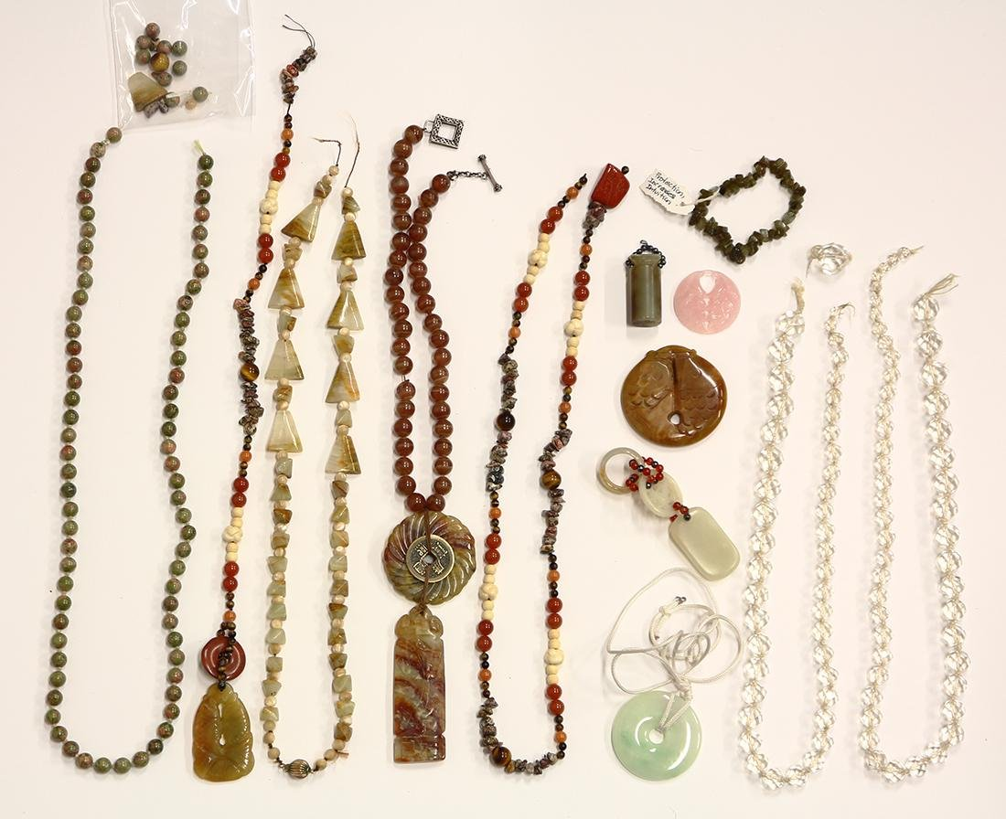 Collection of multi-stone, metal jewelry