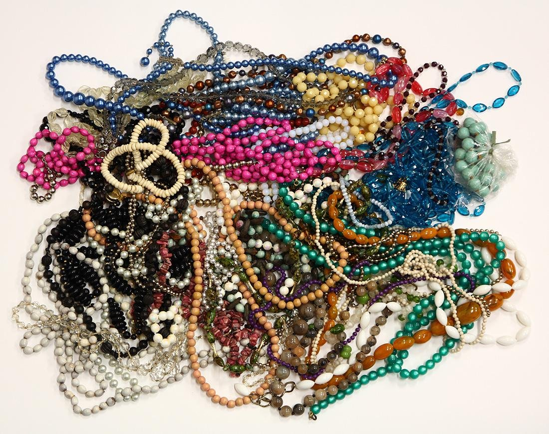 Collection of costume bead necklaces