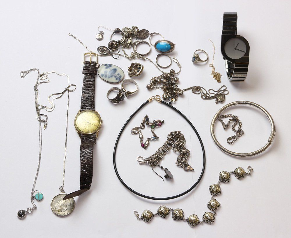 Collection of multi-stone, gold, sterling silver,