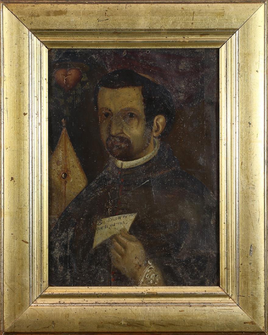 Portrait of a Priest, retablo