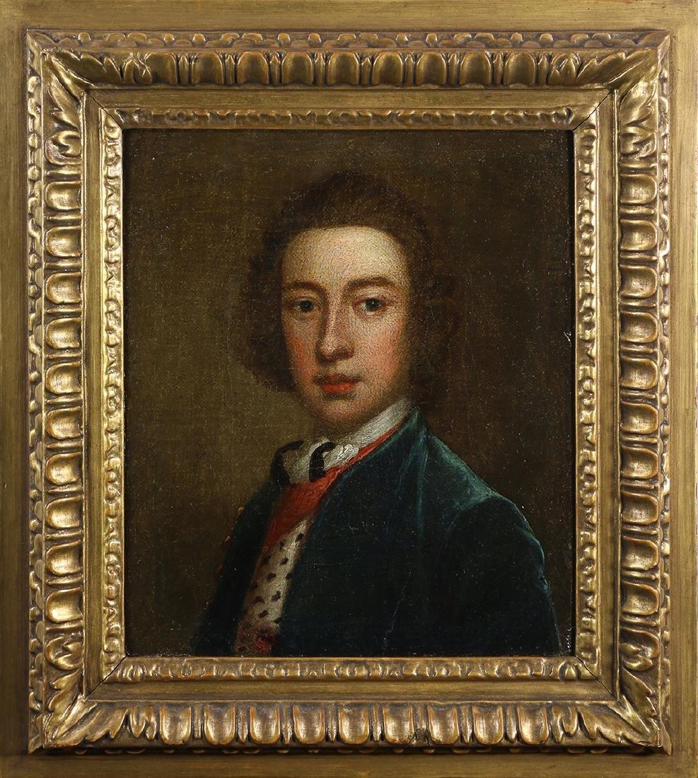 British School , Portrait of William Derby, circa 1740,