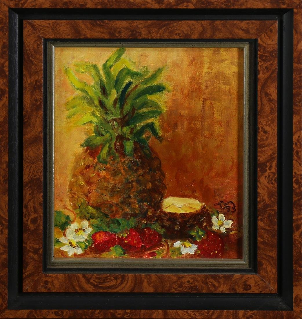 Painting, Still Life with Pineapple, Strawberries and