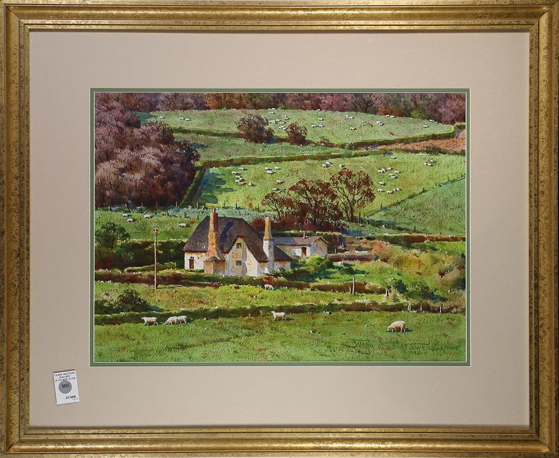 Green is England, 1992, watercolor