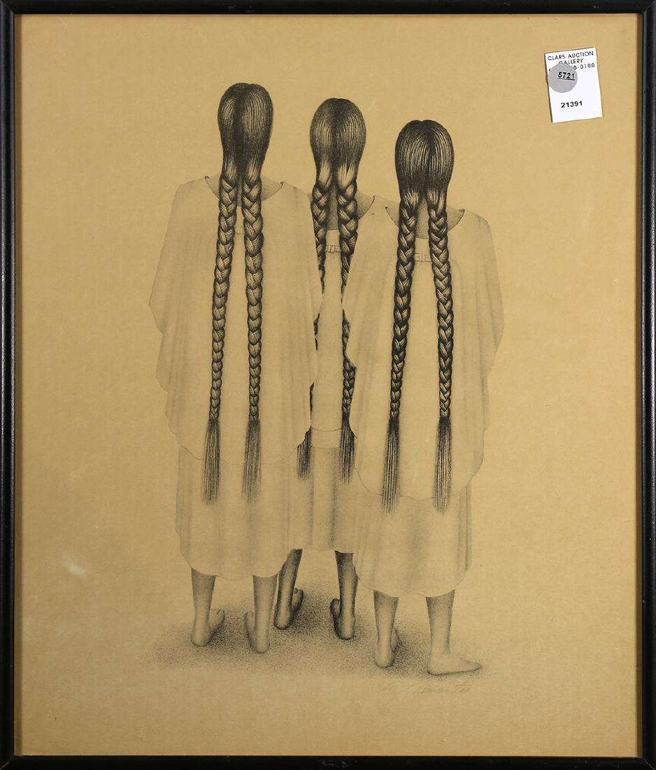 Print, After Francisco Dosamantes, Oaxaca Women