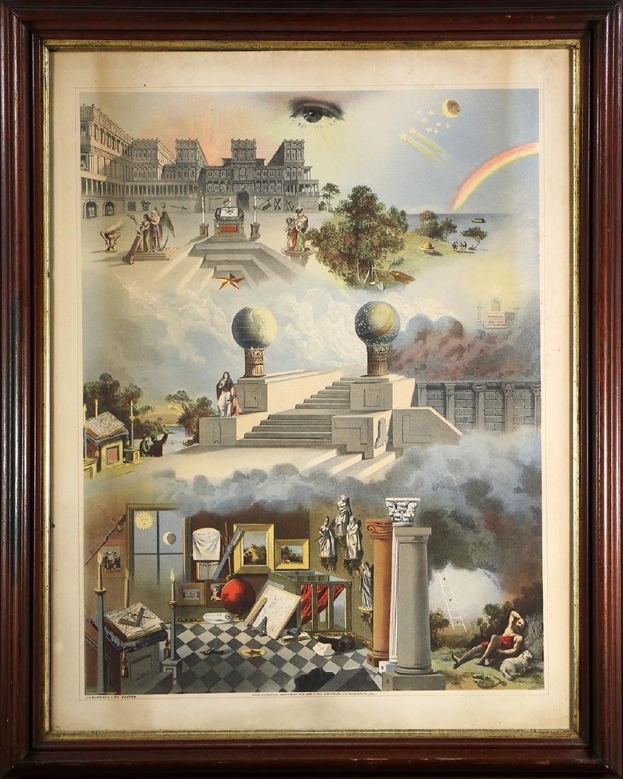 Masonic Chart, John Henry Bufford and Sons