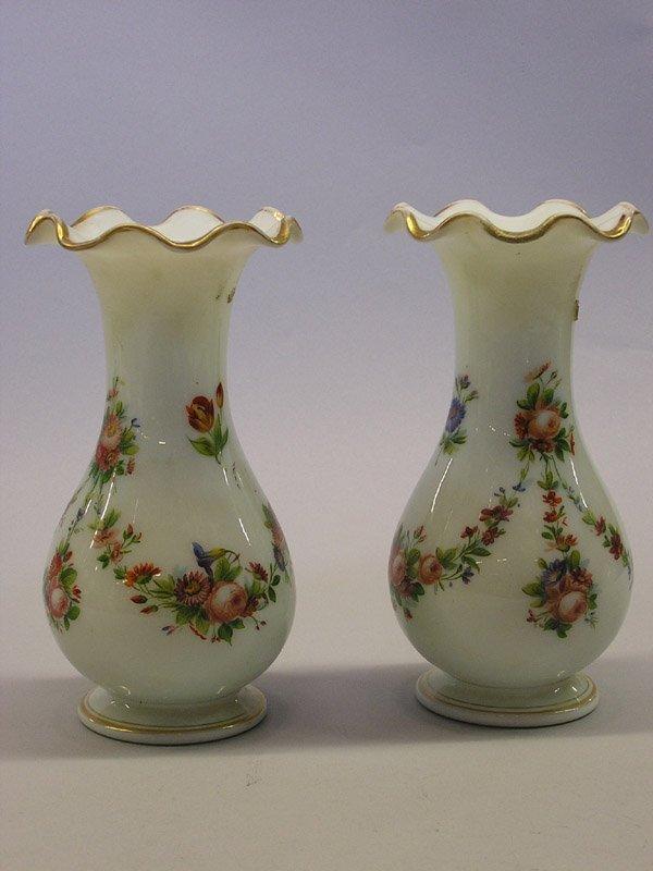 6: Pair of Bristol Glass Vases