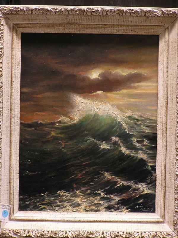 10: Painting, Stormy Sea signed Vercinsky