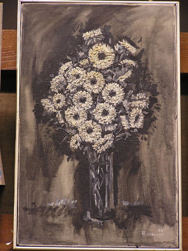 12: Floral still life signed Bourgeois