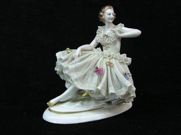 13: Porcelain Dresden figurine