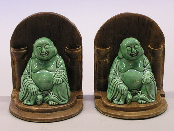 14: Pair of Hotei Bookends