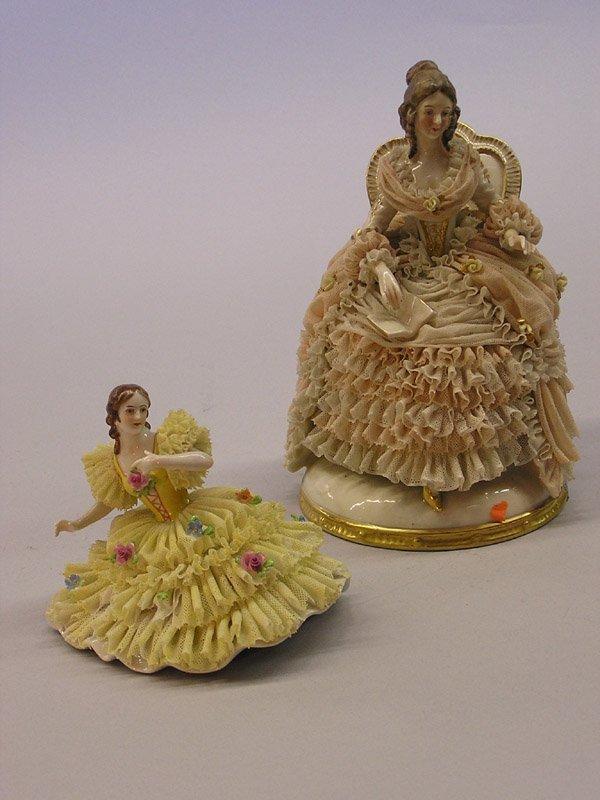 15: Pair of Dresden figurines